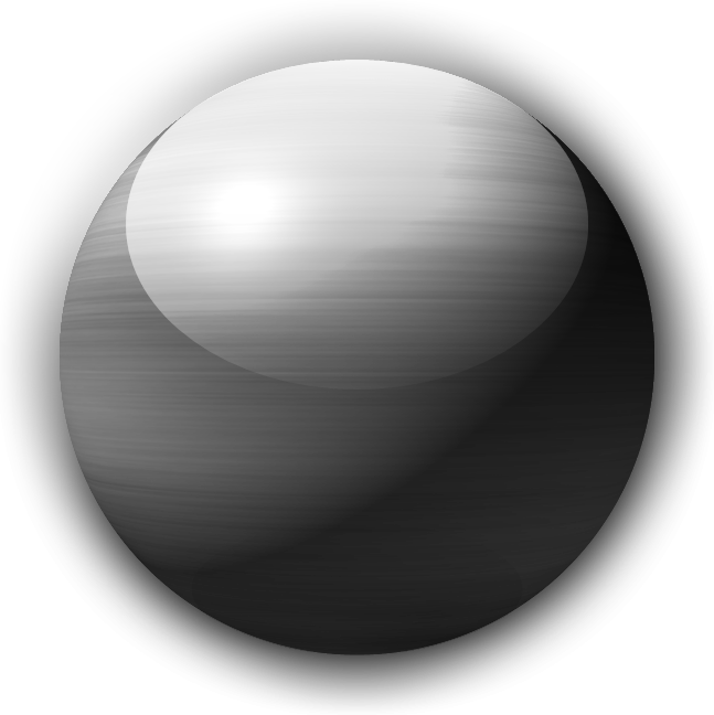 transparent orb glossy