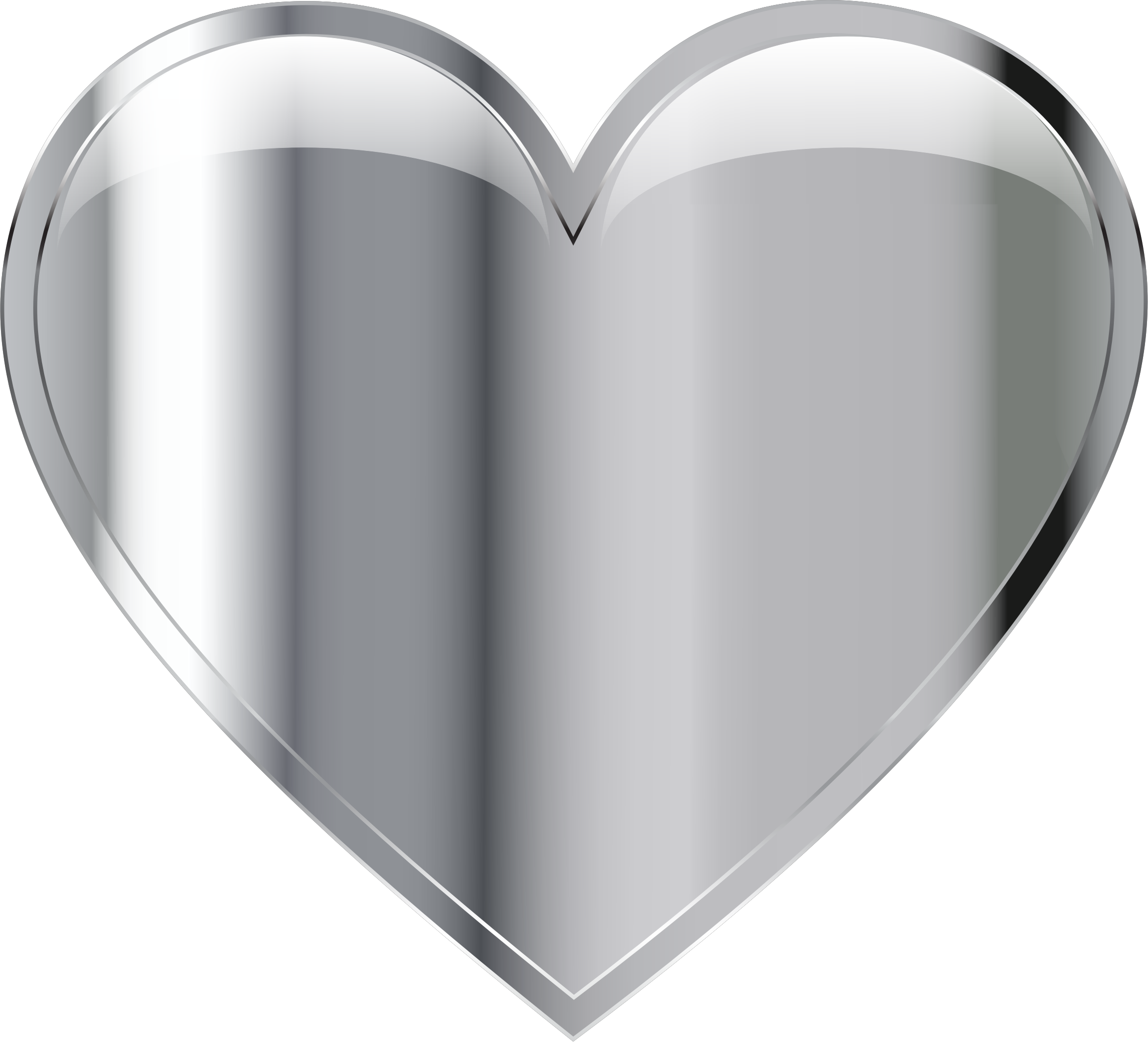 Heart, png silver