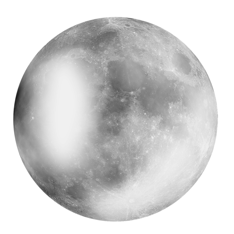 The moon png. By moonglowlilly on deviantart