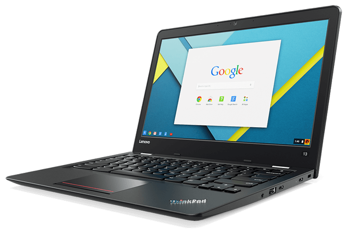 Chromebook drawing 13 black. Thinkpad business with inch