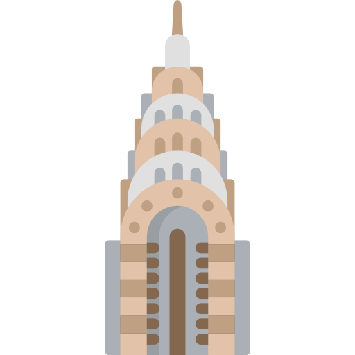 Chrysler building png. Free monuments icons icon