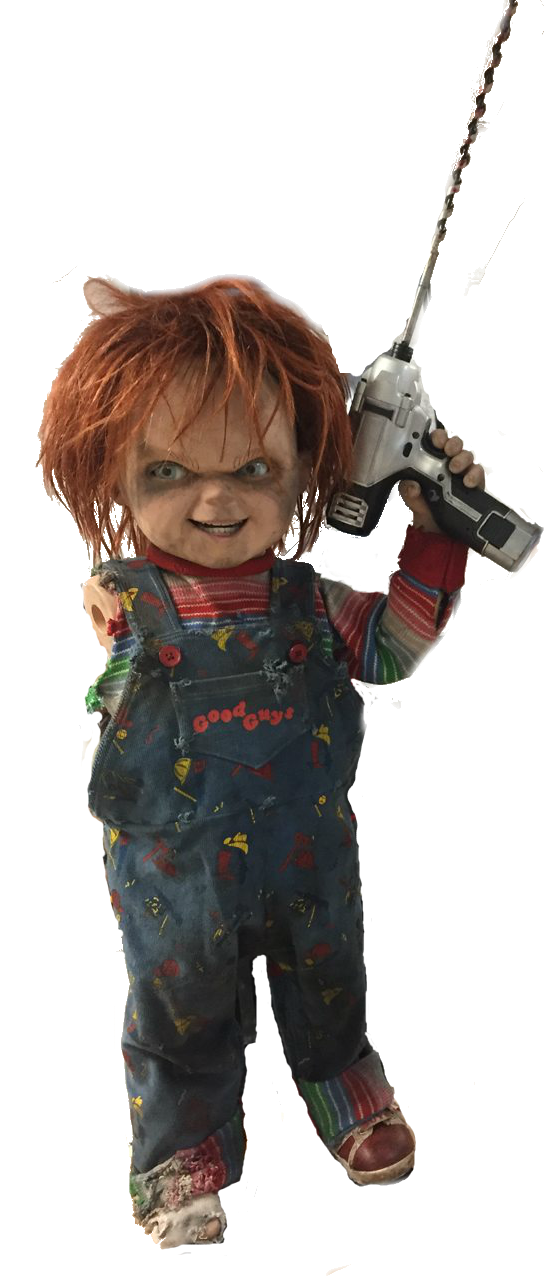 Chucky png. Coc with electric drill