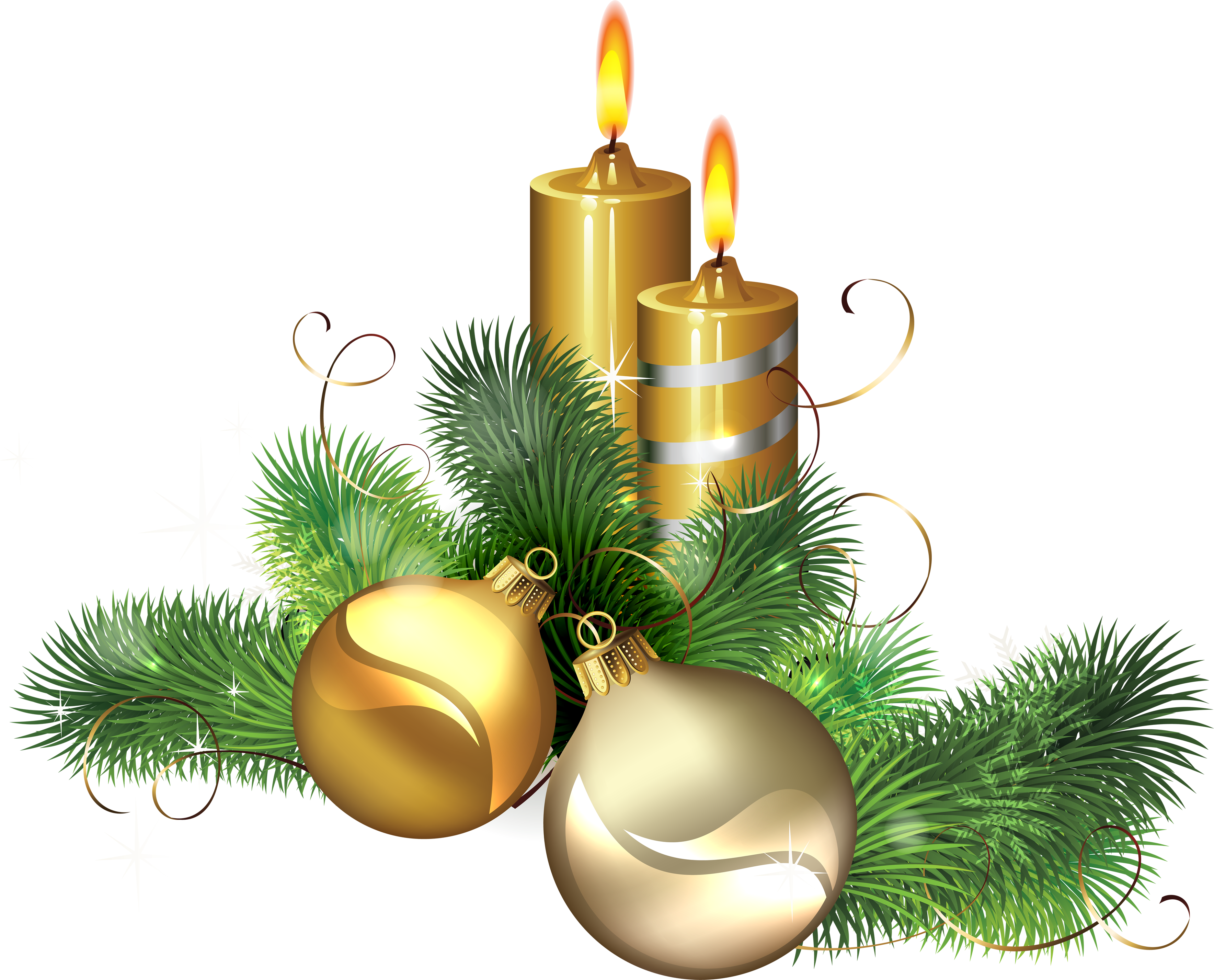 Church candles png. Christmas image