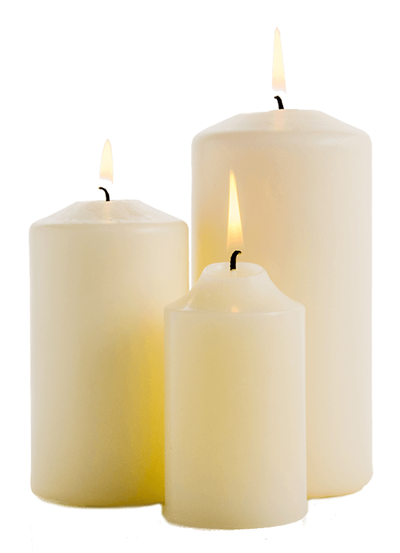 Church candles png. Memorials athlone printing book