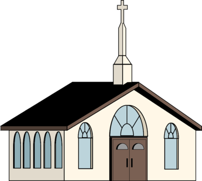 Catholic drawing gothic church. Image white clip art