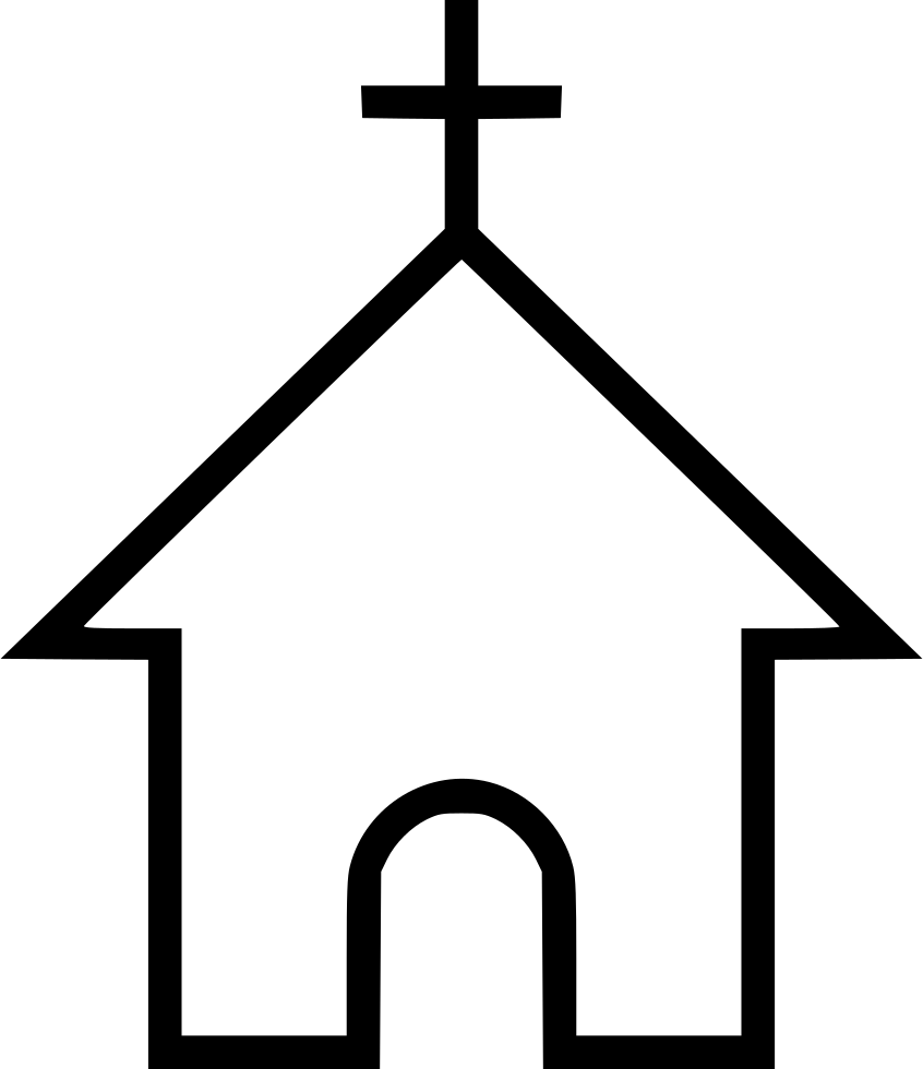 Church cross png. Religion svg icon free