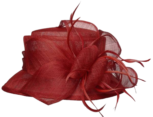 Church hat png. Ribbon feather
