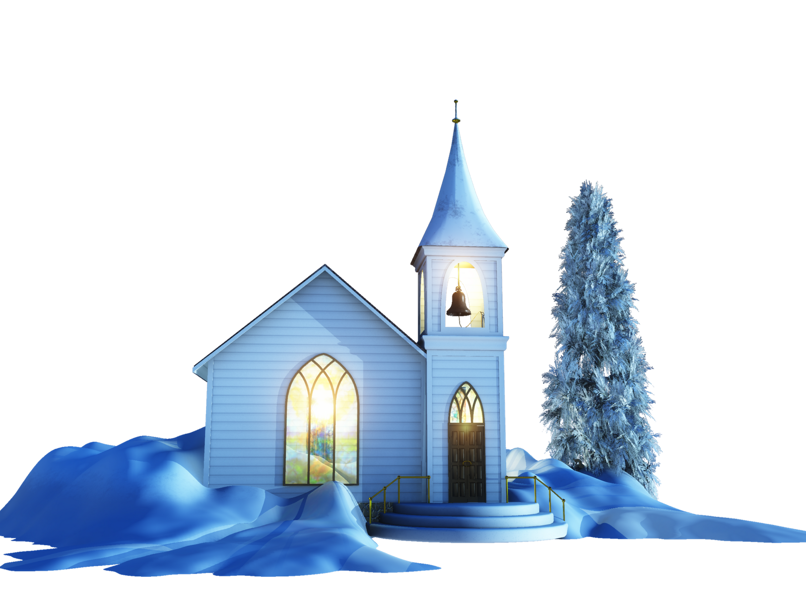 Transparent church building. Png images all file