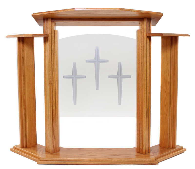 Church podium png. Wood with acrylic pulpit