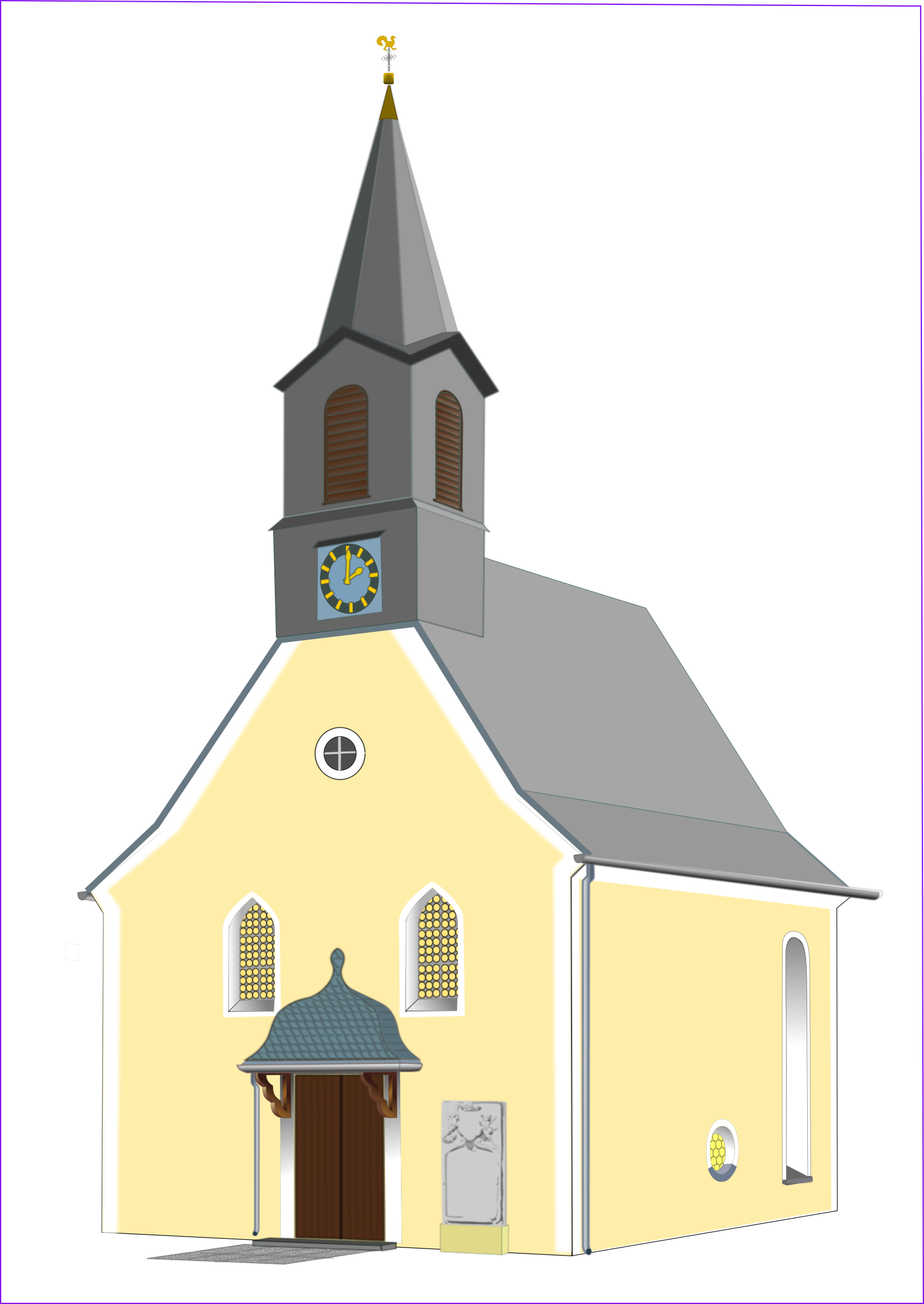 Church vector png. Village icons free and