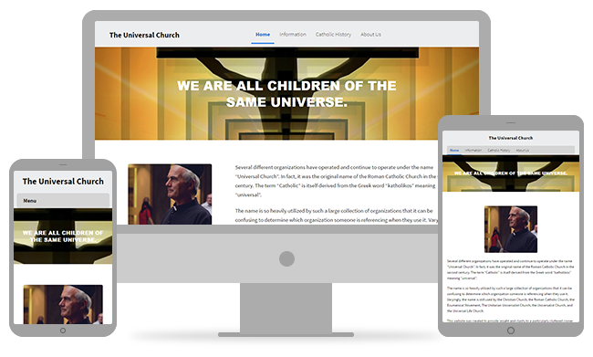 Church website png. Design best for churches