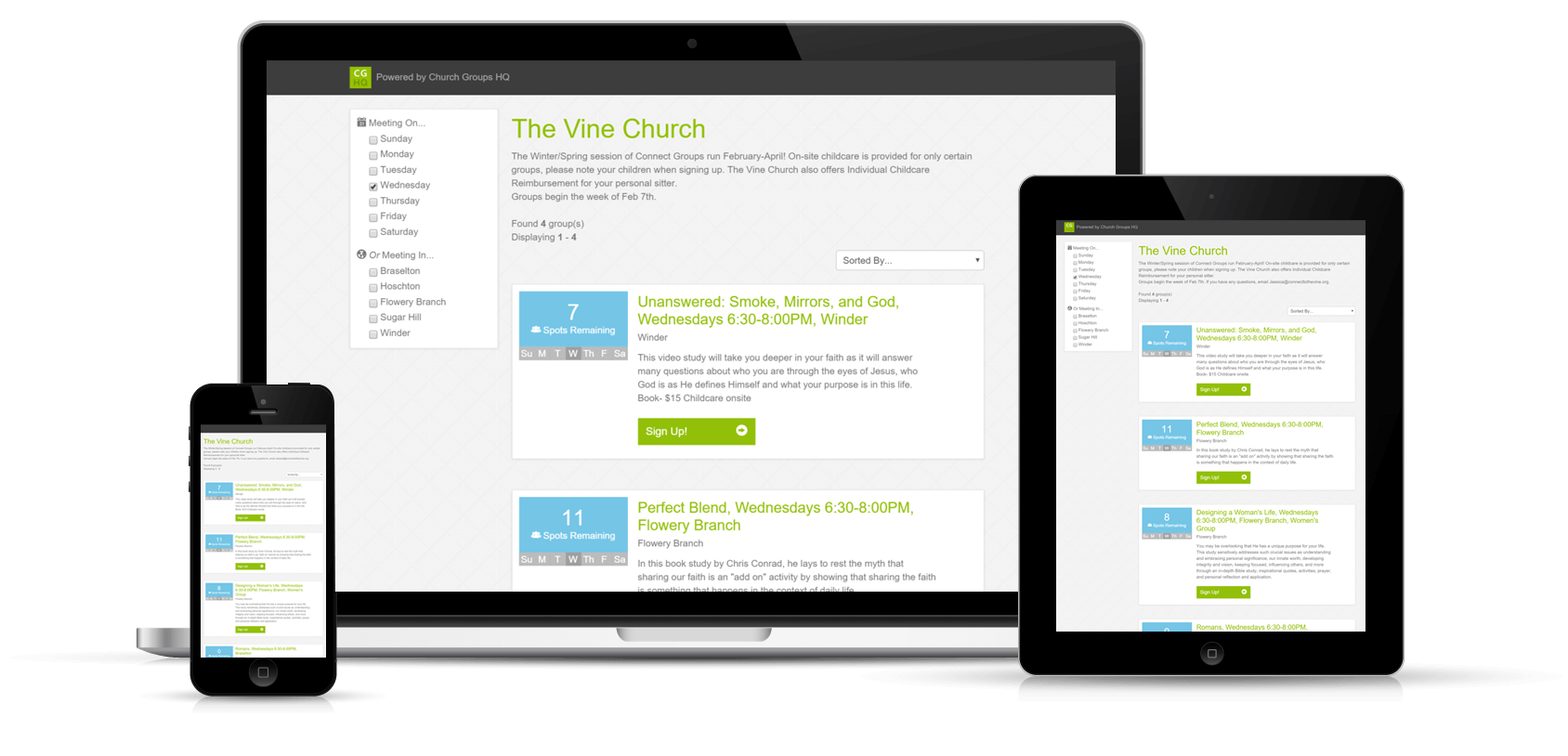Church website png. Small group management software