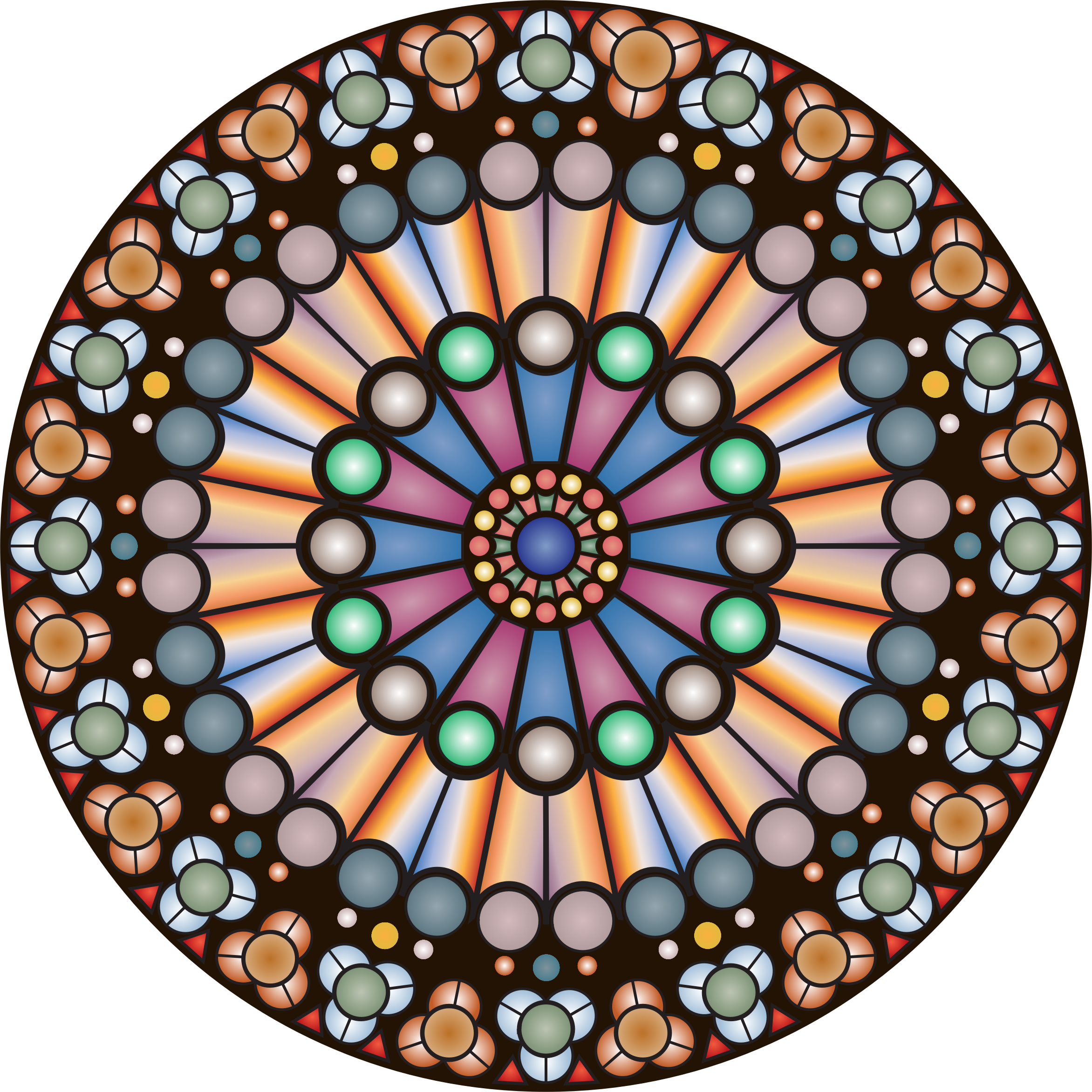 Church window png vector. Rose notre dame icons