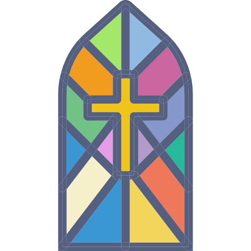 Church window png vector. Cathedral crystal light buildings