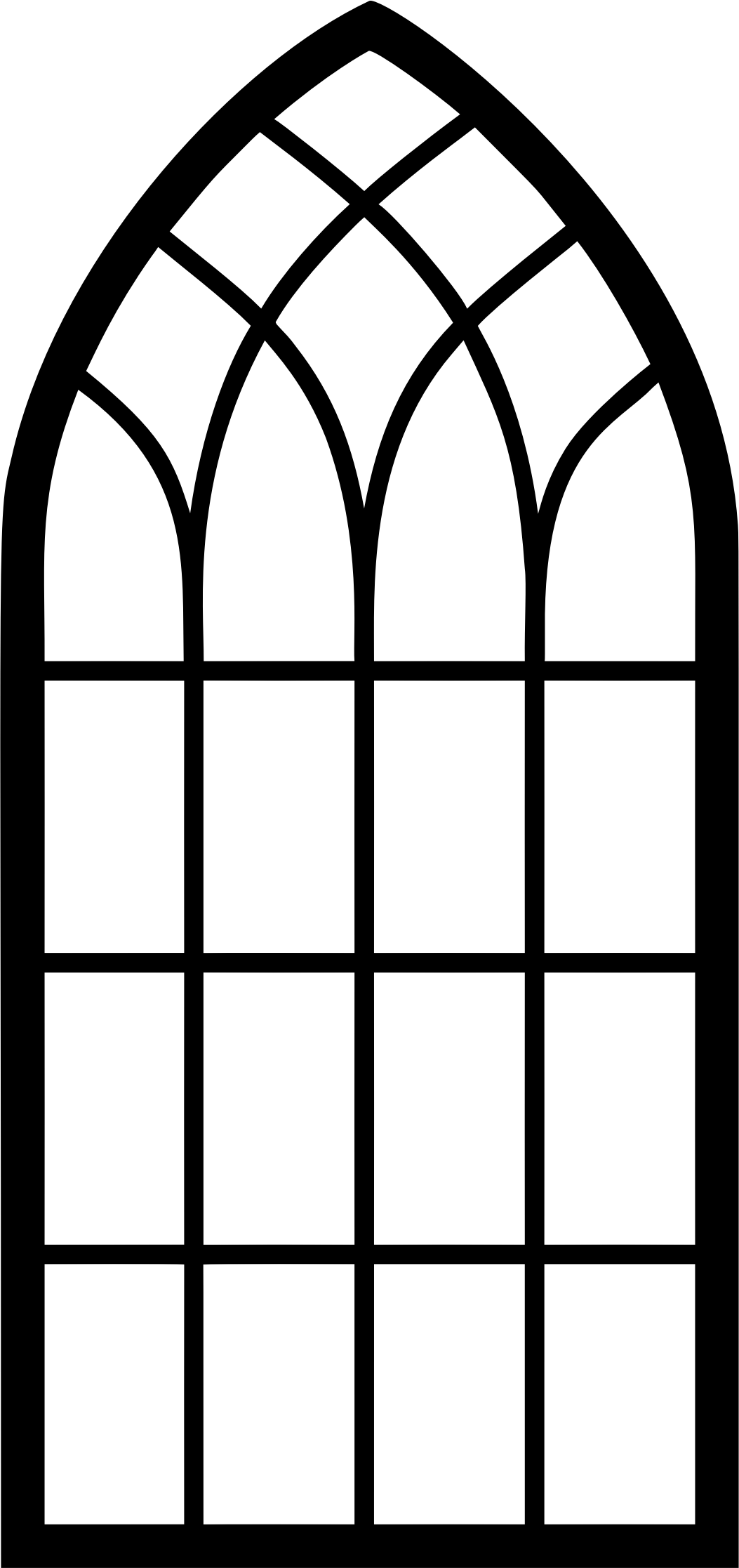 gothic vector cathedral window