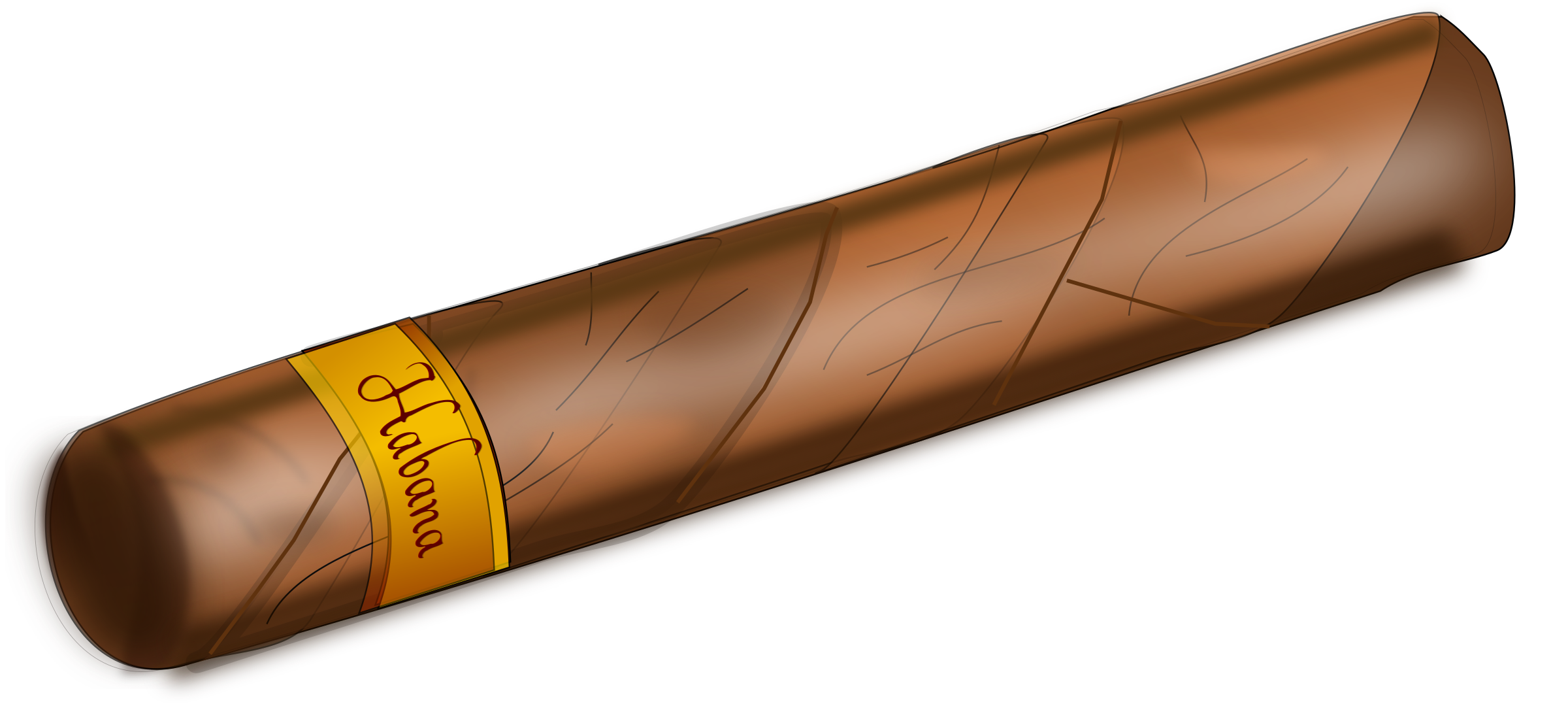 Cigar clipart transparent background. Pencil and in color