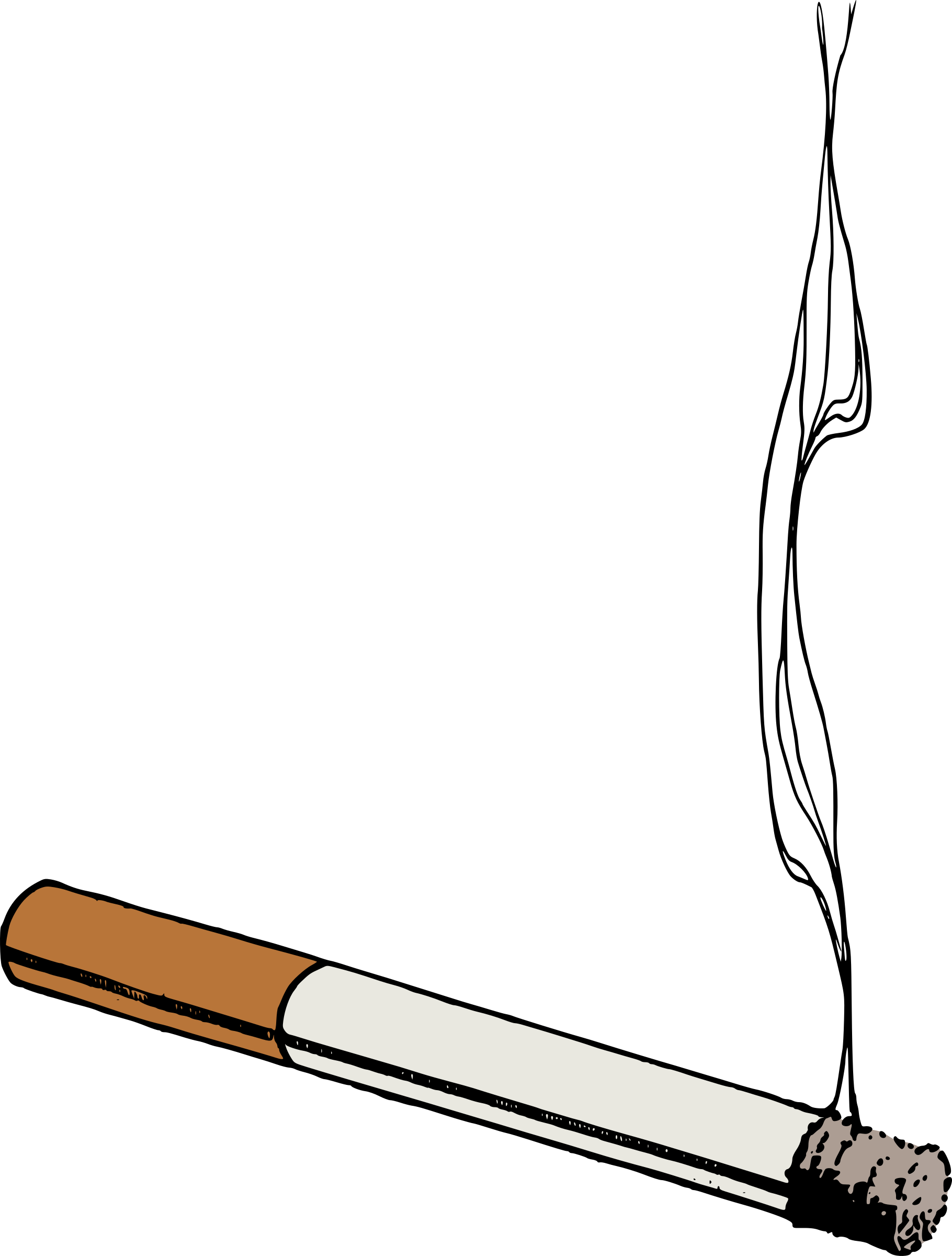Thug transparent joint. Clipart colour cigarette big