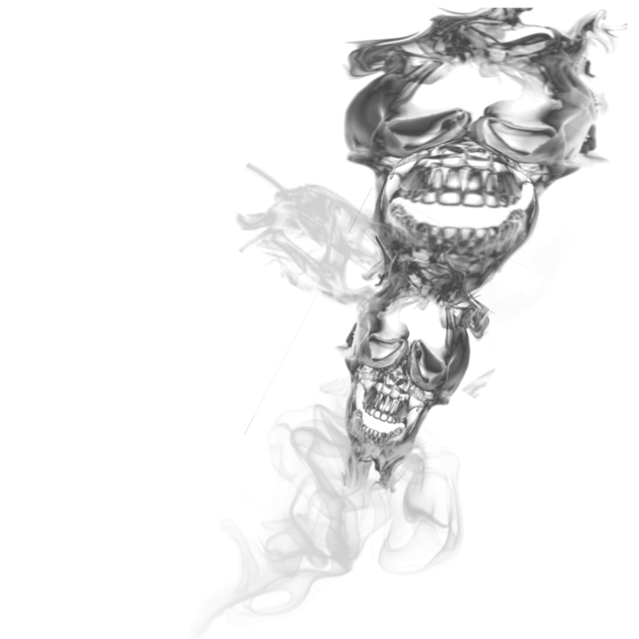 Cigarette smoke png. Double skull transparant by