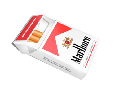 Cigarettes transparent pack. Gallery isolated stock photos