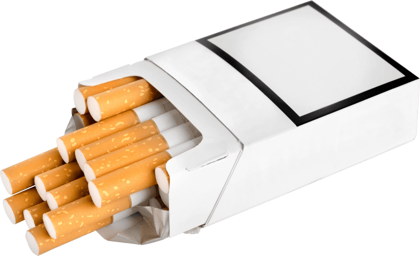Cigarettes transparent. Pack of png free