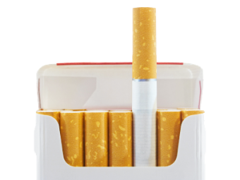 Cigarettes transparent one. Gallery isolated stock photos