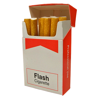 Cigarettes transparent pack. Flash trick products
