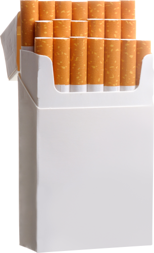 Cigarettes vector cigarette box. Pack of five isolated