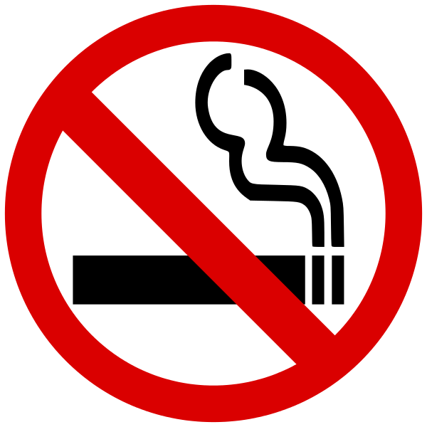 Cigarettes vector cigarette smoke. File no smoking symbol