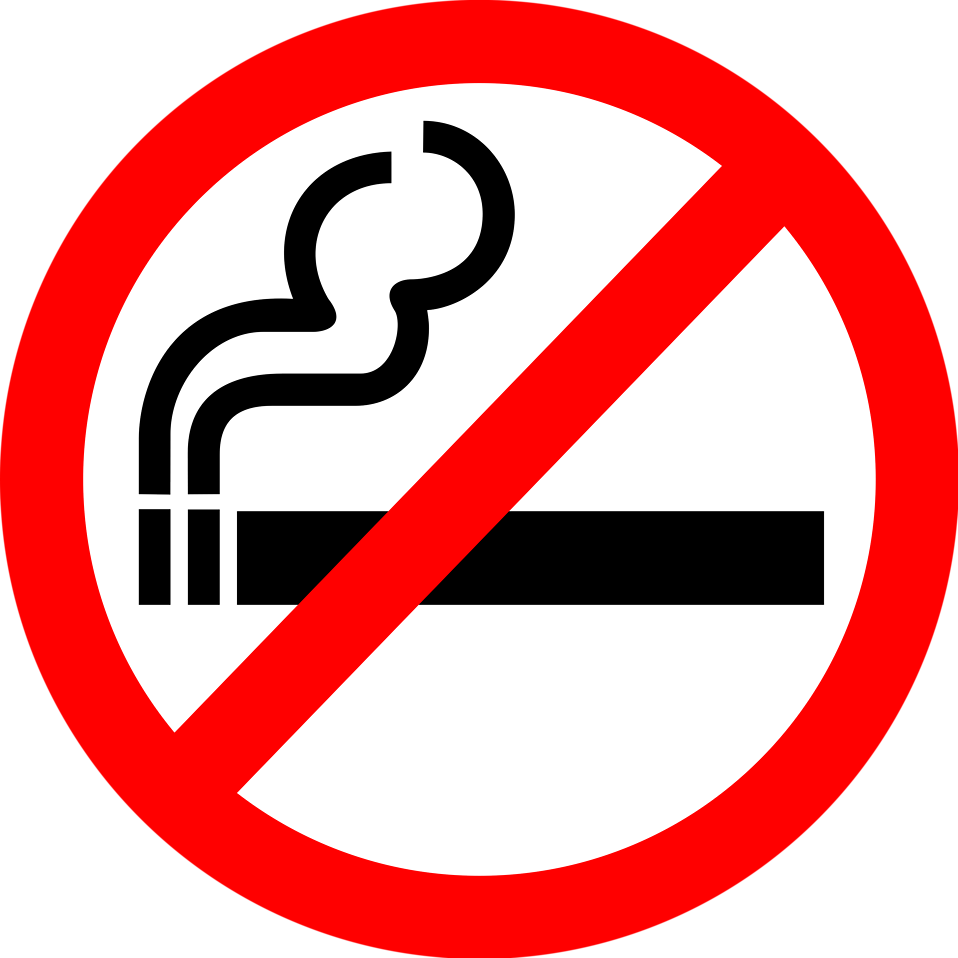 Cigarettes vector clear background. No smoking free stock