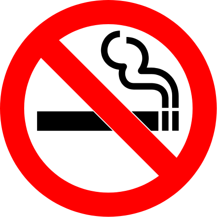 Cigarettes vector svg. File no smoking wikimedia