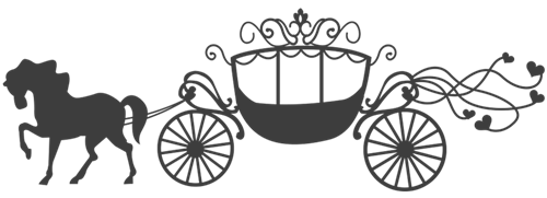Cinderella carriage silhouette png. Clipart images gallery for