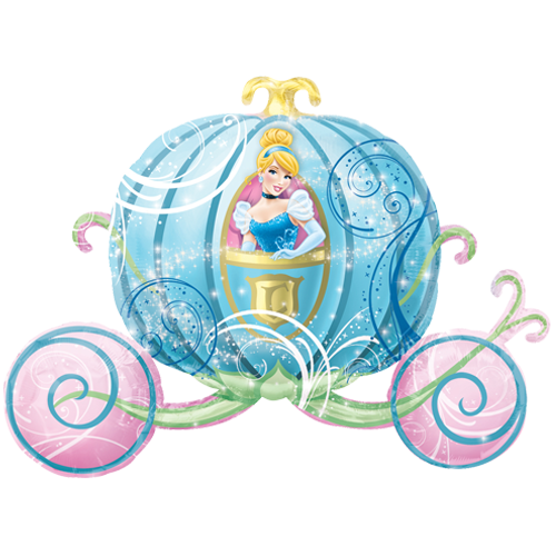 Cinderella carriage png. Supershape foil balloon