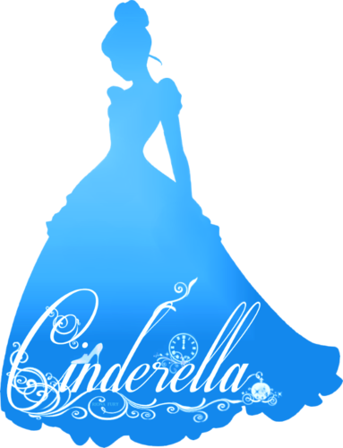 Cinderella carriage silhouette png. Blue image