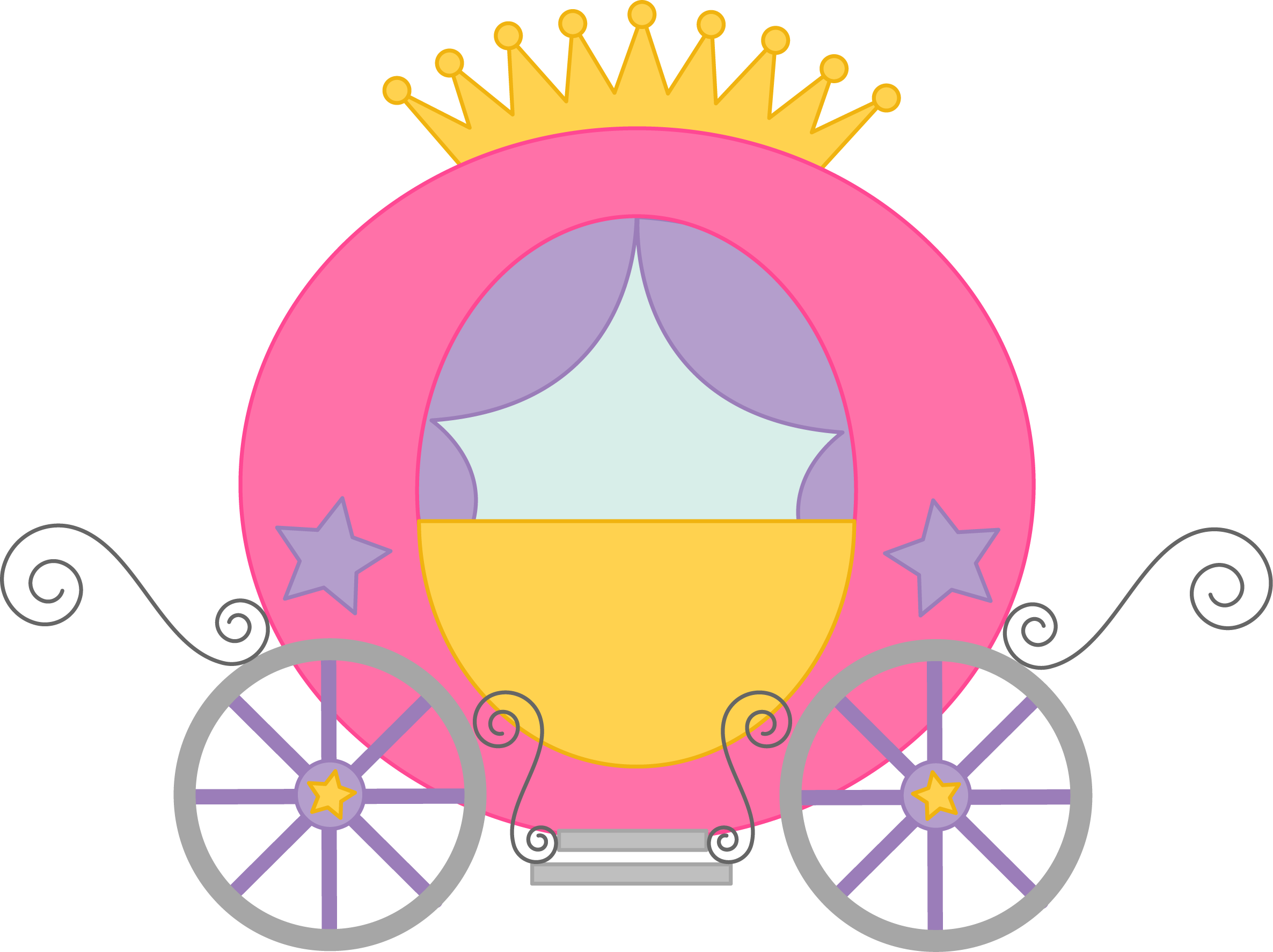 Cinderella carriage silhouette png. Fairytale princess pictures cliparts