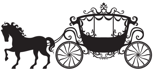 cinderella carriage silhouette png