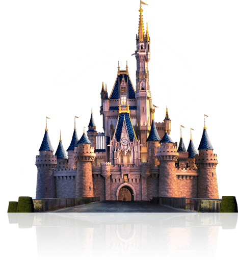 Cinderella castle png. Transparent stickpng