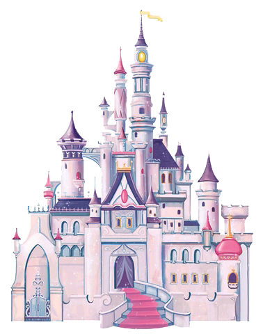 Cinderella castle png. Disney wall decals for