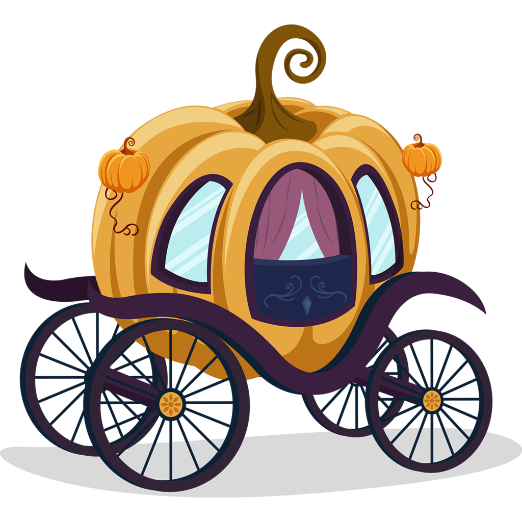 Cinderella coach png. Carriage pumpkin cartoon clip