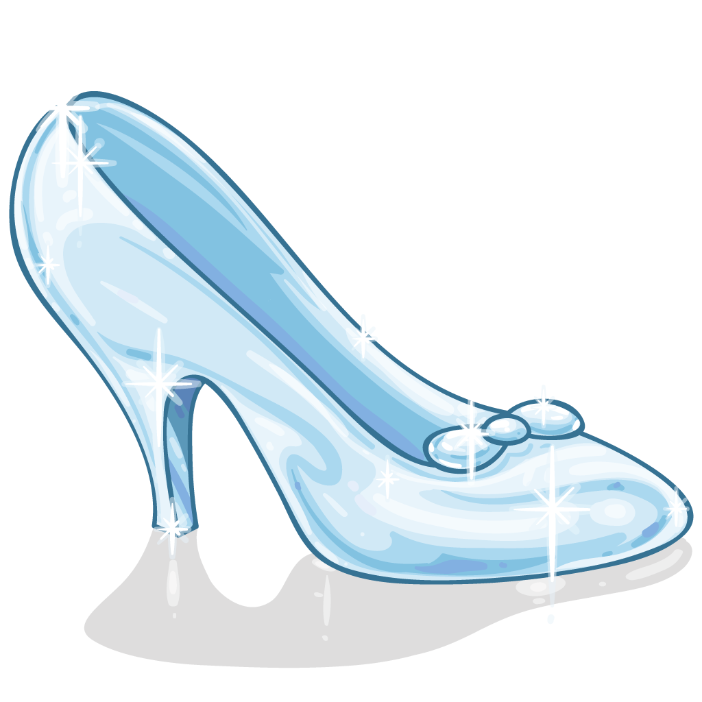 Cinderella glass slipper png. Princess party ideas page