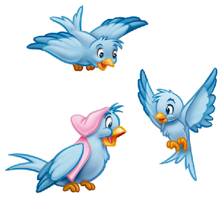 Cinderella mouse png. Disney cartoon blue bird