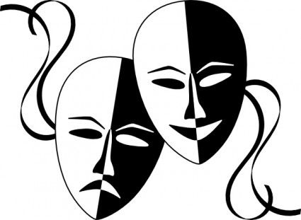 Wasat theatre masks clip. Cinema clipart drama greek mask clip royalty free stock