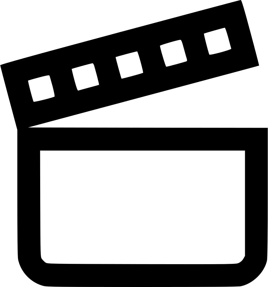 Make movie from png files. Moviemaker film cut svg