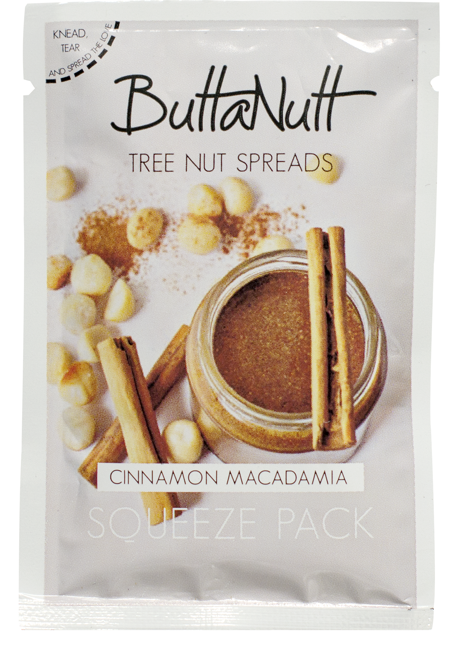 Cinnamon png. Macadamia squeeze pack g