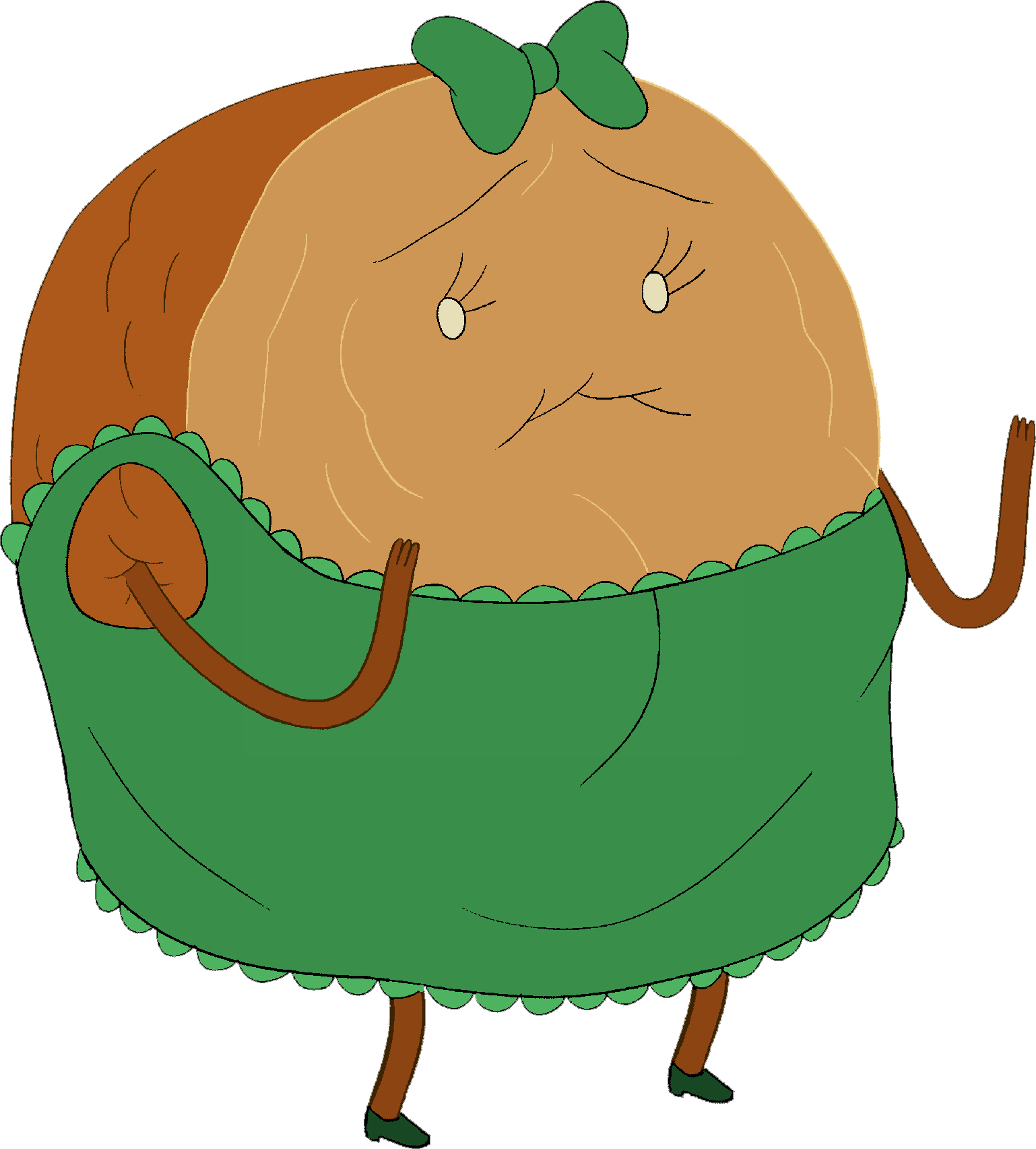 Cinnamon png image. Bun in dress adventure