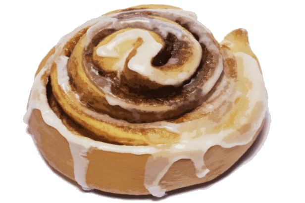 Cinnamon roll clipart pixel. Transparent png stickpng