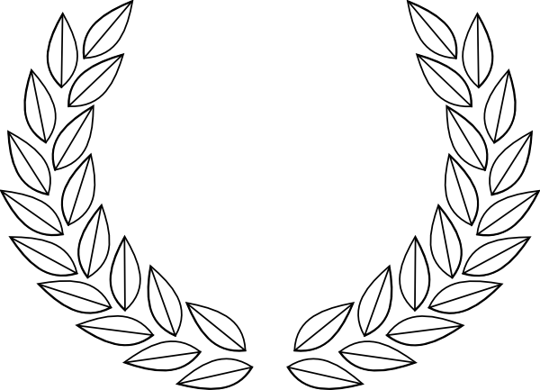 olive leaves clip. Headband drawing leaf vector free stock