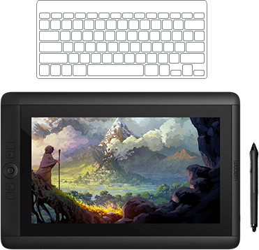 Hd graphic pen tablet. Cintiq drawing graphic black and white stock