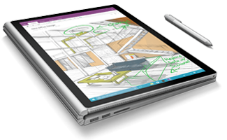 Cintiq drawing surface book. Tablet acc interactive media