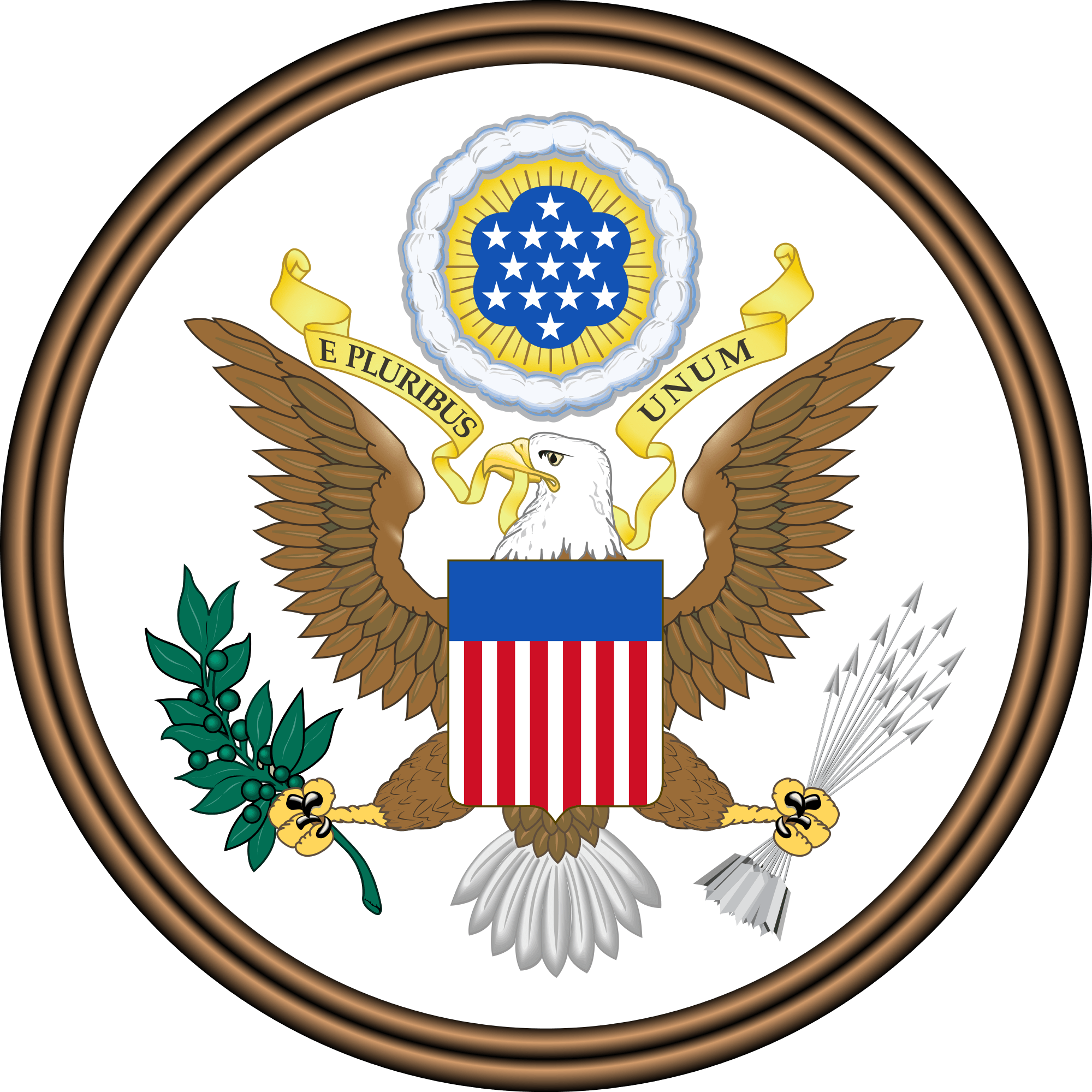Circle arms png. Usa coat of transparent