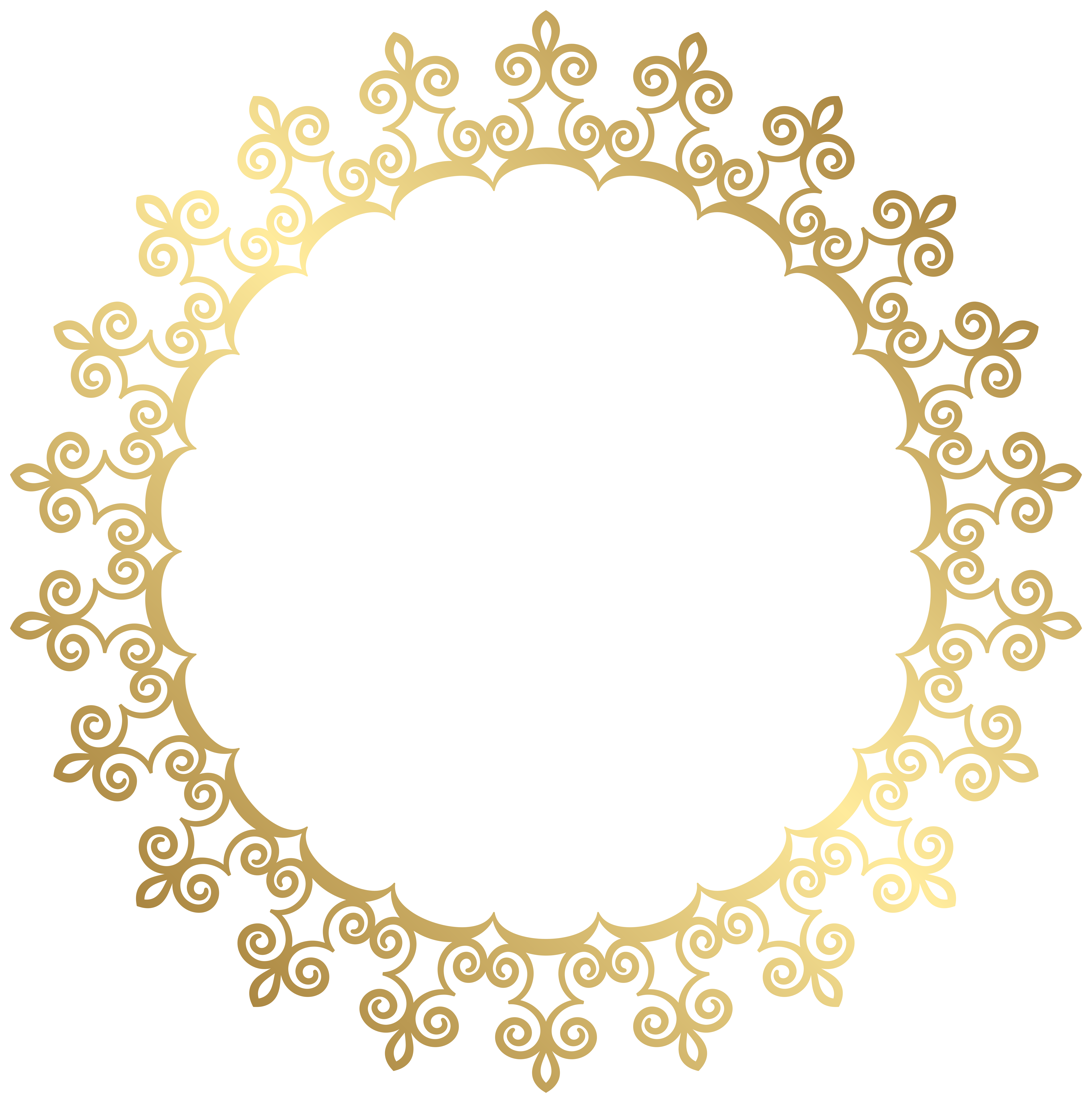 Gold circle frame png. Round border transparent clip